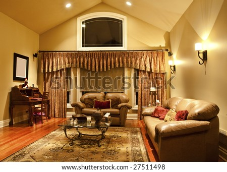 Well-taylored drapes in a living room