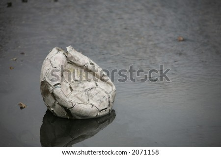 Well used soccer ball