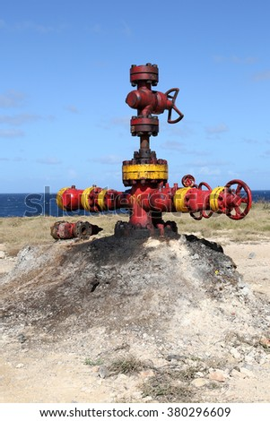 Wellhead in Cuba - stock photo