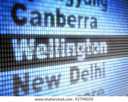 Wellington. World capitals  Full collection of icons like that is in my portfolio - stock photo