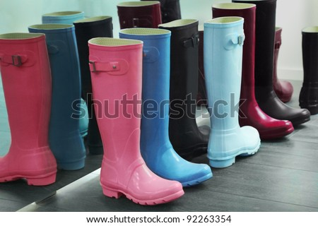 Wellingtons - stock photo