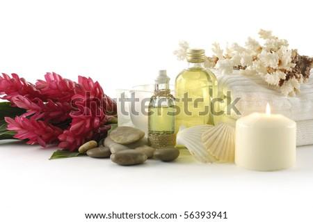 Wellness and spa still life - stock photo