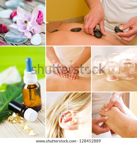 Wellness collage - stock photo
