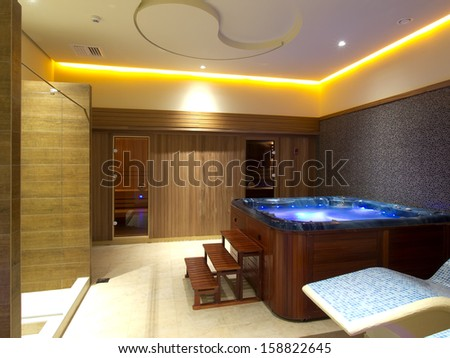 Wellness spa interior - stock photo