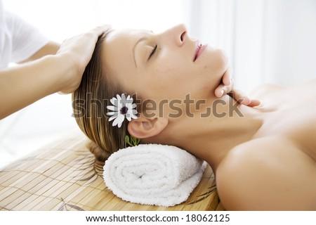 wellness treatment - stock photo