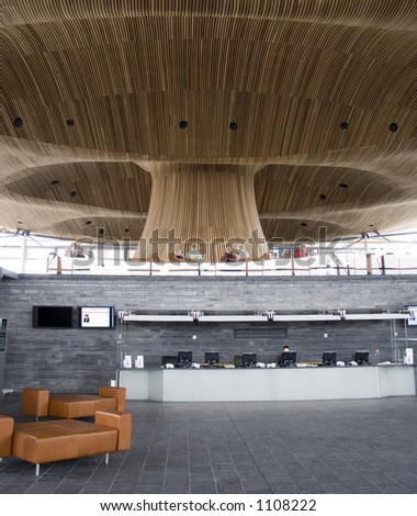Welsh Assembly Building, Cardiff Bay, Wales - stock photo