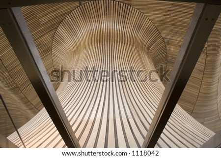 Welsh Assembly building interior, UK. - stock photo