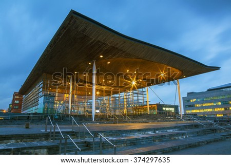 Welsh Assembly, Cardiff Bay, Wales, U.K.