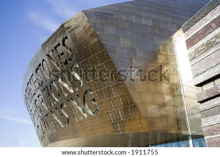 Welsh Millenium Centre in Cardiff Bay, UK. Arts and theatre venue. - stock photo