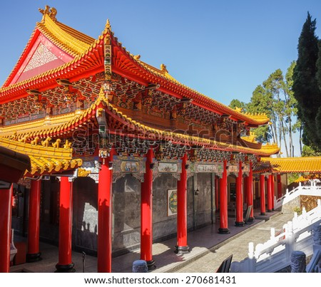 Wen Wu (Wenwu) Temple on Sun Moon Lake in Taiwan - stock photo