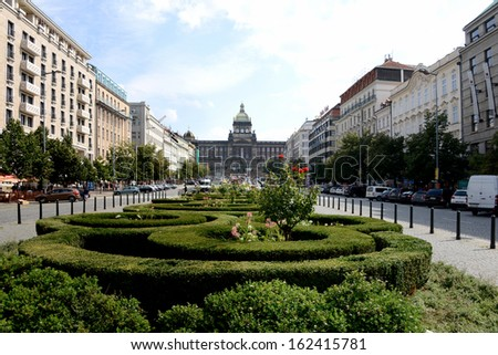Wenceslas Square, Prague - stock photo