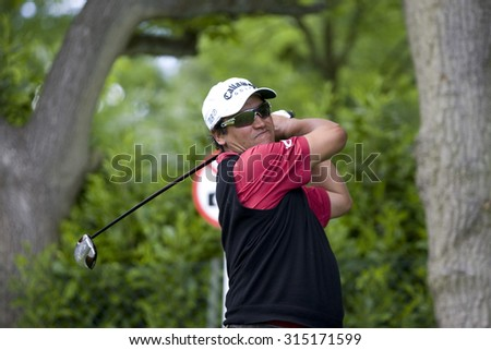WENTWORTH, ENGLAND. 21 MAY 2009.Michael CAMPBELL NZL playing in the European Tour BMW PGA Championship.