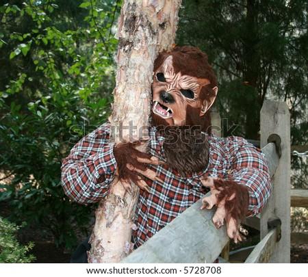Werewolf Halloween Decoration - stock photo