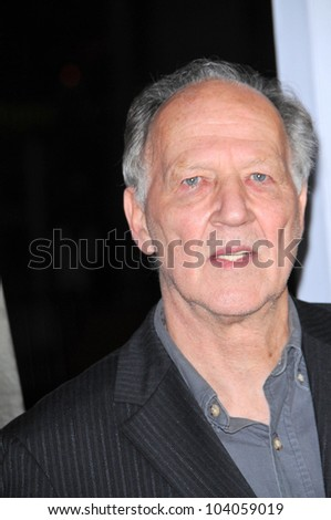 "Werner Herzog at the AFI Fest Screening of ""Bad Lieutenant: Port Of Call New Orleans,"" Chinese Theater, Hollywood, CA. 11-04-09"