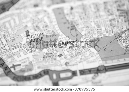 West Beckton. London, UK map.