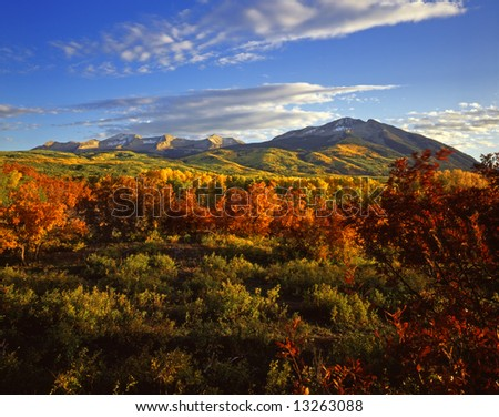 West Beckwith Mountain in the Gunnison National Forest, Colorado. - stock photo