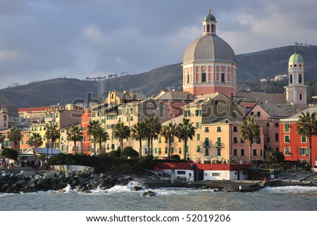 West District of Genoa, italy - stock photo
