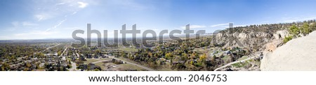 West end of Billings, Montana. Billings is know as the Magic City. - stock photo