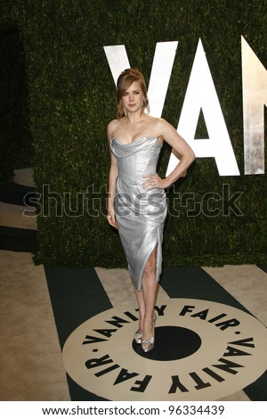 WEST HOLLYWOOD, CA - FEB 26: Amy Adams at the Vanity Fair Oscar Party at Sunset Tower on February 26, 2012 in West Hollywood, California.