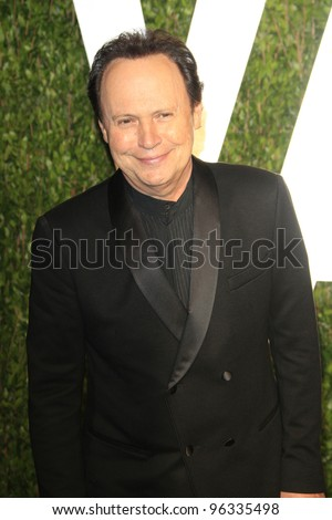 WEST HOLLYWOOD, CA - FEB 26: Billy Crystal at the Vanity Fair Oscar Party at Sunset Tower on February 26, 2012 in West Hollywood, California. - stock photo