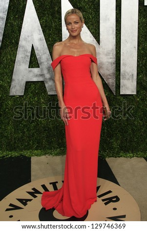 WEST HOLLYWOOD, CA - FEB 24: Carolyn Murphy at the Vanity Fair Oscar Party at Sunset Tower on February 24, 2013 in West Hollywood, California