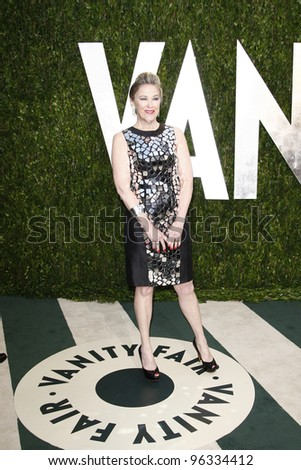 WEST HOLLYWOOD, CA - FEB 26: Catherine O'Hara at the Vanity Fair Oscar Party at Sunset Tower on February 26, 2012 in West Hollywood, California.