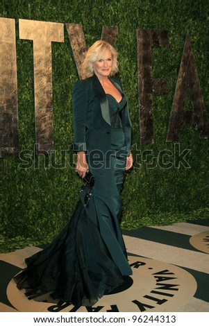 WEST HOLLYWOOD, CA - FEB 26: Glenn Close at the Vanity Fair Oscar Party at Sunset Tower on February 26, 2012 in West Hollywood, California. - stock photo