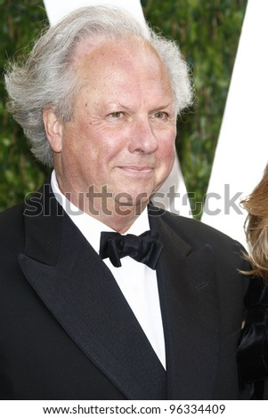 WEST HOLLYWOOD, CA - FEB 26: Graydon Carter at the Vanity Fair Oscar Party at Sunset Tower on February 26, 2012 in West Hollywood, California.
