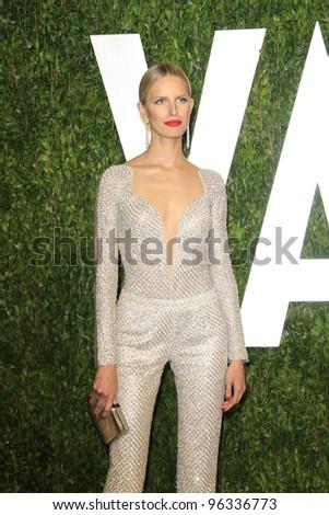 WEST HOLLYWOOD, CA - FEB 26: Karolina Kurkova at the Vanity Fair Oscar Party at Sunset Tower on February 26, 2012 in West Hollywood, California. - stock photo