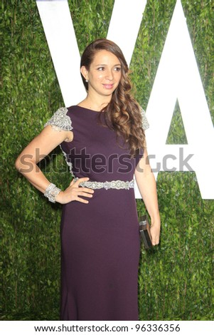 WEST HOLLYWOOD, CA - FEB 26: Maya Rudolph at the Vanity Fair Oscar Party at Sunset Tower on February 26, 2012 in West Hollywood, California. - stock photo