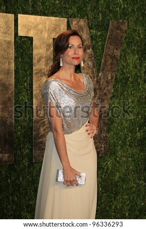 WEST HOLLYWOOD, CA - FEB 26: Minnie Driver at the Vanity Fair Oscar Party at Sunset Tower on February 26, 2012 in West Hollywood, California. - stock photo