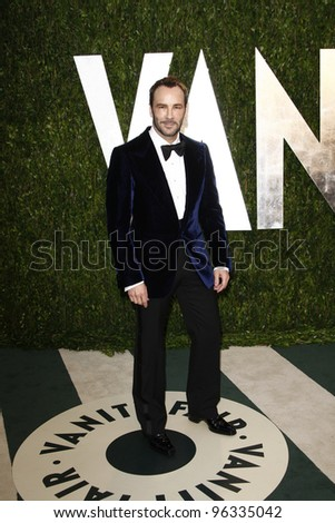 WEST HOLLYWOOD, CA - FEB 26: Tom Ford at the Vanity Fair Oscar Party at Sunset Tower on February 26, 2012 in West Hollywood, California.