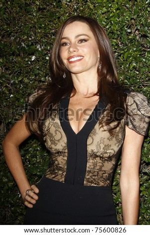WEST HOLLYWOOD, CA - JAN 5:  Sofia Vergara at the COVERGIRL 50th Anniversary Celebration at BOA Steakhouse held on January 5, 2011 in West Hollywood, California. - stock photo