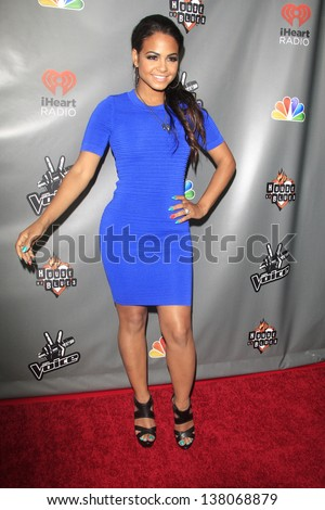 WEST HOLLYWOOD, CA - MAY 8:  Christina Milian at the NBC's 'The Voice' Season 4 Red Carpet Event at the House of Blues on May 8, 2013 in West Hollywood, California