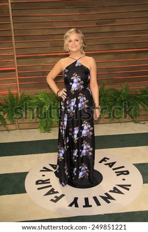 WEST HOLLYWOOD - MAR 2:: Amy Poehler at the 2014 Vanity Fair Oscar Party on March 2, 2014 in West Hollywood, California - stock photo