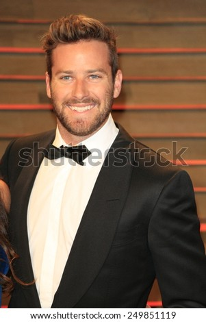 WEST HOLLYWOOD - MAR 2:: Armie Hammer at the 2014 Vanity Fair Oscar Party on March 2, 2014 in West Hollywood, California - stock photo
