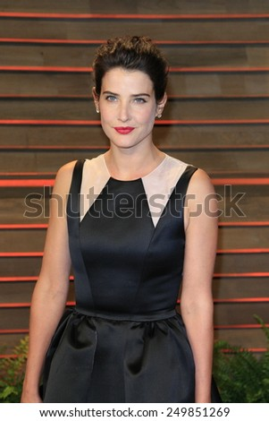 WEST HOLLYWOOD - MAR 2:: Cobie Smulders at the 2014 Vanity Fair Oscar Party on March 2, 2014 in West Hollywood, California - stock photo