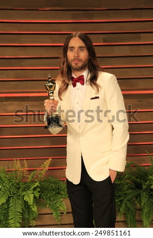 WEST HOLLYWOOD - MAR 2:: Jared Leto at the 2014 Vanity Fair Oscar Party on March 2, 2014 in West Hollywood, California - stock photo