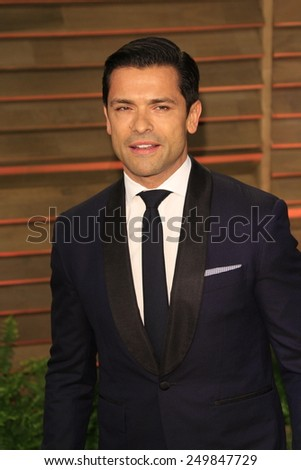 WEST HOLLYWOOD - MAR 2:: Mark Consuelas at the 2014 Vanity Fair Oscar Party on March 2, 2014 in West Hollywood, California - stock photo