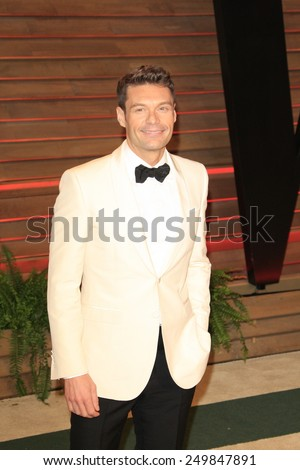 WEST HOLLYWOOD - MAR 2:: Ryan Seacrest at the 2014 Vanity Fair Oscar Party on March 2, 2014 in West Hollywood, California - stock photo