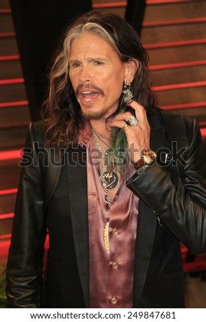 WEST HOLLYWOOD - MAR 2:: Steven Tyler at the 2014 Vanity Fair Oscar Party on March 2, 2014 in West Hollywood, California - stock photo