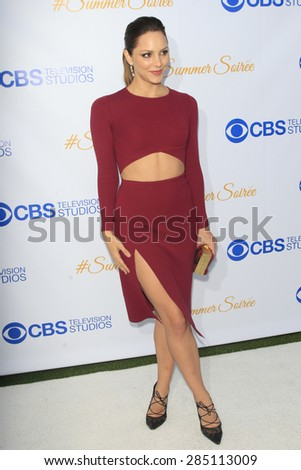 WEST HOLLYWOOD - MAY 18: Katharine McPhee at the CBS Television Studios 3rd Annual Summer Soiree Party held at The London Hotel on May 18, 2015 in West Hollywood, California - stock photo