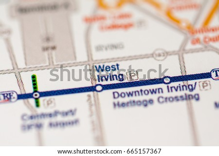West Irving Station Dallas Metro Map Stock Photo 665157367