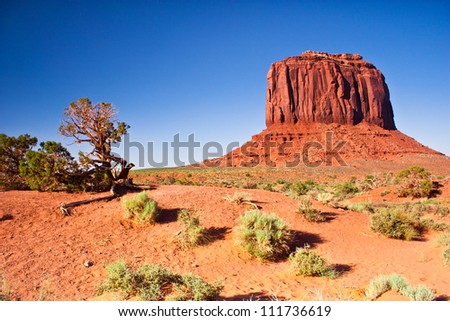 West Mitten Butte, Monument Valley, Utah - stock photo