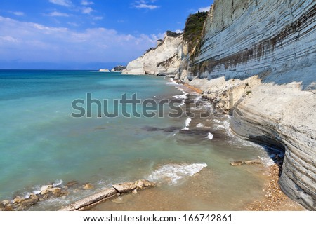West north coast at Corfu island in Greece - stock photo