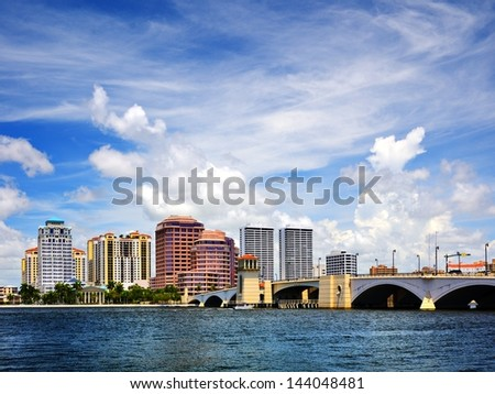 West Palm Beach, Florida, USA. - stock photo
