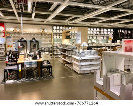 WEST SACRAMENTO, CA, USA   NOV 28, 2017: Interior Of Kitchen And