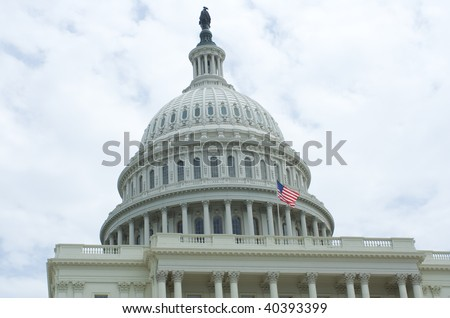 West Side of The US Capitol Building in Washington DC - stock photo