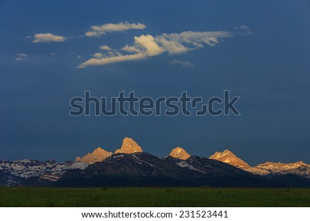 west slope sunset - stock photo