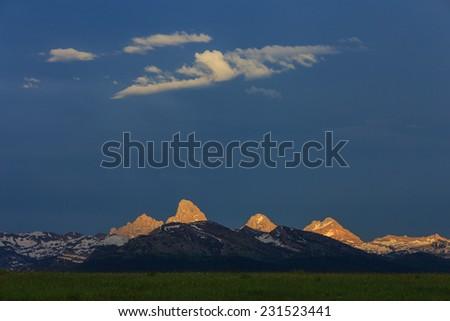 west slope sunset - stock photo